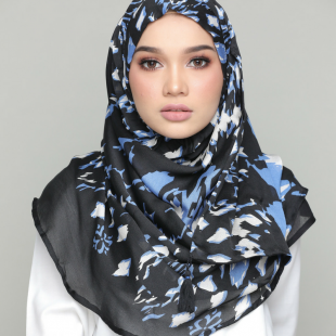 NiteLite-Chic!-Printed Shiny Georgette