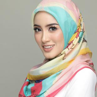 Al-Hambra-Classic Shawls-Digital Printed Silk