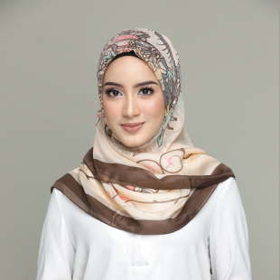 Unconditional Love-Pastel-Classic Shawl-Printed Square SILK