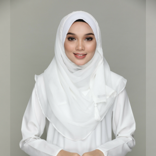 Abyadh(Off White)-Chic!-Plain Chiffon BASICS
