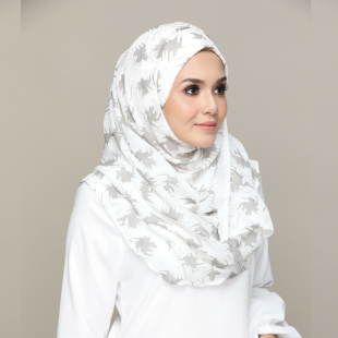 Bright Kufi-Chic!-Printed Crinkled Chiffon