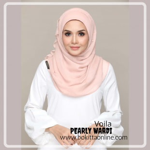 Pearly Wardi-Voila!-Premium Plain with Embroidery and Pearls