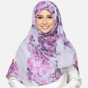 Hydrangea Purple-CHIC MAXI-Printed Smooth Chiffon