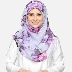 Hydrangea Purple-VOILA MAXI-Printed Smooth Chiffon