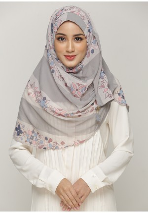 Rumooz Silver-CHIC-Printed Smooth Chiffon