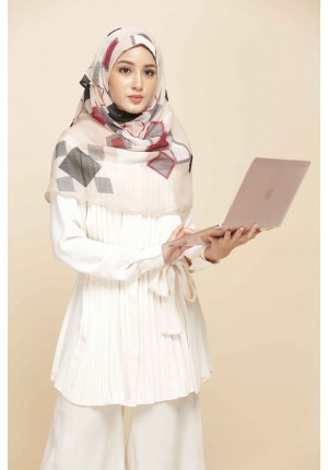 BB Beige-VOILA MAXI-Printed Smooth Chiffon