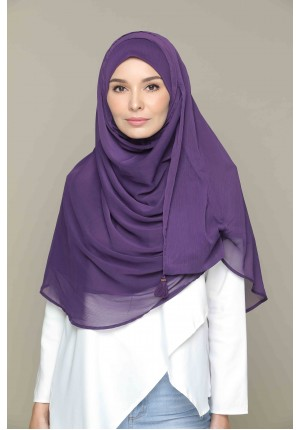 Purple Pennant-CHIC-Plain Smooth Chiffon