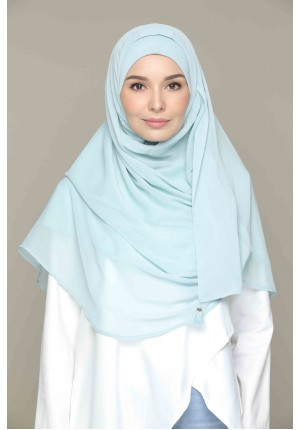 Cloud Blue-CHIC MAXI-Plain Smooth Chiffon