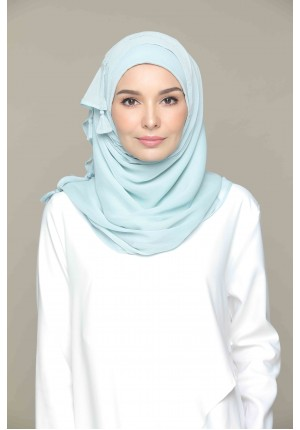 Cloud Blue-VOILA-Plain Smooth Chiffon