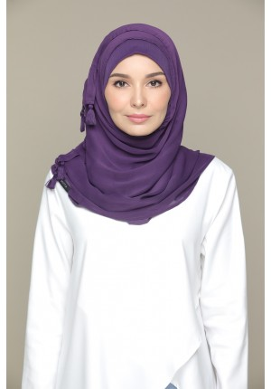 Purple Pennant-VOILA-Plain Smooth Chiffon