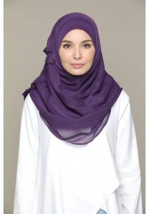 Purple Pennant-VOILA MAXI-Plain Smooth Chiffon