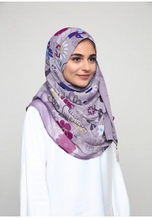 Dacha Purple-CHIC-Printed Smooth Chiffon