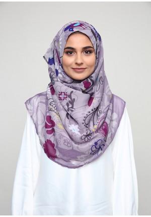 Dacha Purple-VOILA MAXI-Printed Smooth Chiffon