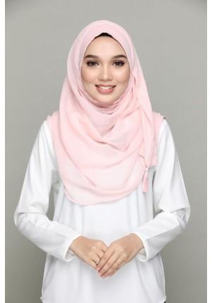 ZAHRI  (pink shade) -CHIC-BASICS Plain Lite Chiffon