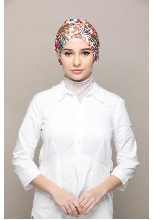 Malaysia -Cap Shawl-Printed Smooth Chiffon