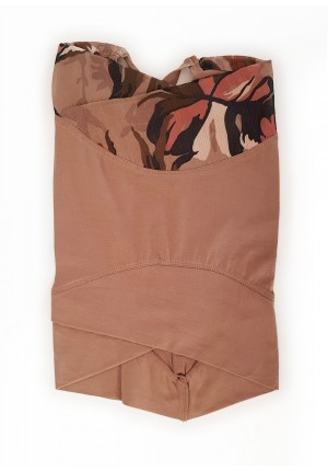 Safari-Cross Inner-Printed Smooth Chiffon