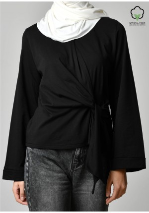 Black-T-Shirt Lotus w/zip