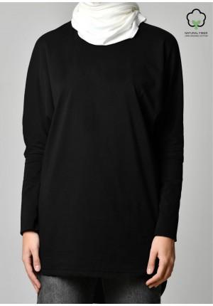 Black-T-Shirt Pansy Long