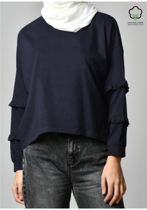 Navy-T-Shirt Peony