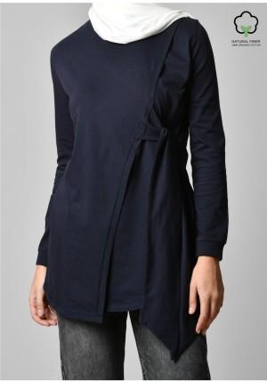 Navy-T-Shirt Calla Lily