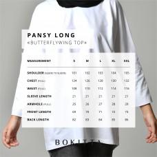 Navy-T-Shirt Pansy Long