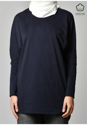 Navy-T-Shirt Pansy Long