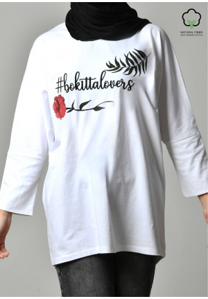 BOKITTA LOVERS WHITE-T-Shirt Pansy Long