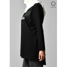 BOKITTA LOVERS BLACK-T-Shirt Pansy