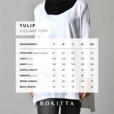 GOOD VIBES WHITE-T-Shirt Tulip