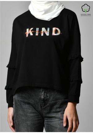 ALWAYS BE KIND BLACK-T-Shirt Peony
