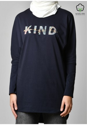 ALWAYS BE KIND NAVY-T-Shirt Pansy