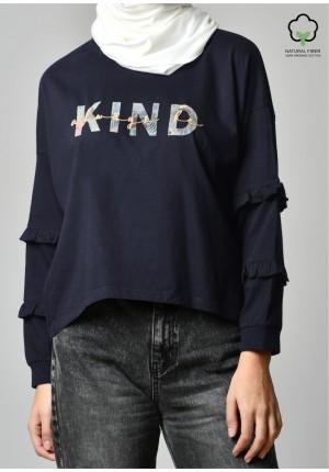 ALWAYS BE KIND NAVY-T-Shirt Peony