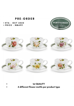 BOTANIC ROSES TEA CUP AND SAUCERS SET OF 6