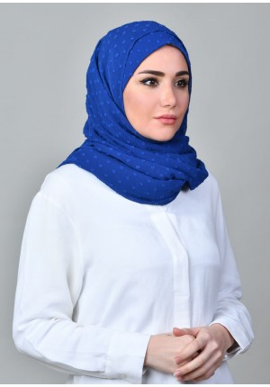 Falaki-FREE STYLE-Plain Crinkled Butti Chiffon (Exclude Inner)
