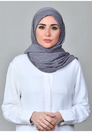 Ghyoum-FREE STYLE-Plain Mosaic Butti Chiffon (Exclude Inner)