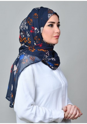 Fanous-FREE STYLE-Printed Mosaic Chiffon (Exclude Inner)