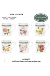 BOTANIC ROSES BREAKFAST MUG - SET OF 6