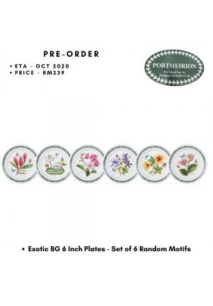 EXOTIC BOTANIC GARDEN 6 INCH PLATES - SET OF 6