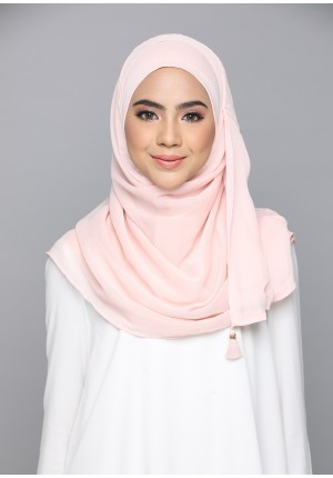 Peach Whip-CHIC-Plain Smooth Chiffon