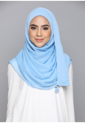 Dusk Blue-CHIC-Plain Smooth Chiffon
