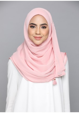 Blush-CHIC-Plain Smooth Chiffon