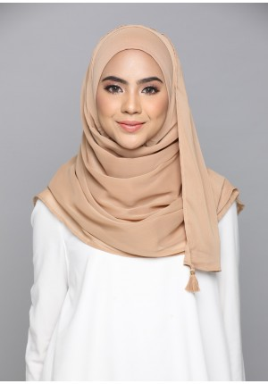 Indian Tan-CHIC-Plain Smooth Chiffon