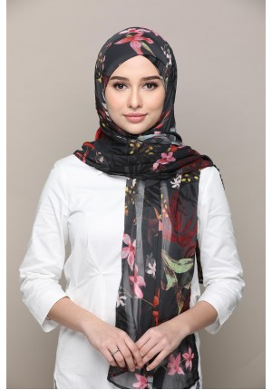 Rainforest-FREE STYLE-Printed Mosaic Chiffon (Exclude Inner)