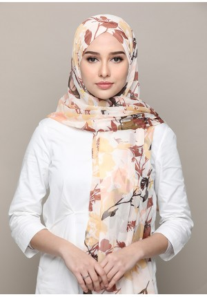 Lady Leaves-FREE STYLE-Printed Mosaic Chiffon (Exclude Inner)