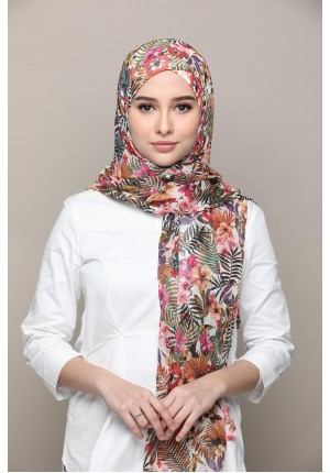 Malaysia-FREE STYLE-Printed Mosaic Chiffon (Exclude Inner)