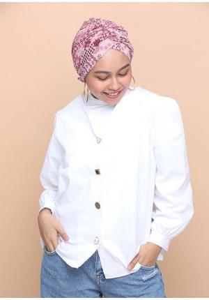 Sindibad Pink-CAP SHAWL-Printed Chiffon