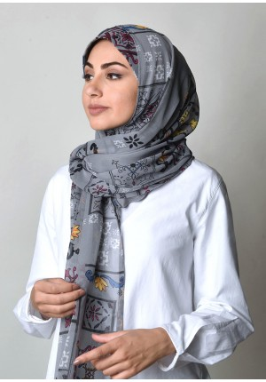 Barocco-Free Style-Printed Crinkled Chiffon (Exclude Inner)