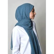 Blue stone-Free Style-Plain Mosaic Butti Chiffon (Exclude Inner)