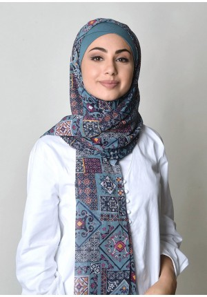 La Majolica-Free Style-Printed Crinkled Chiffon (Exclude Inner)
