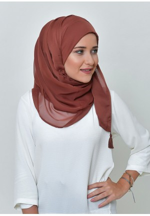 Mocha-Chic Mini-BASICS Plain Lite Chiffon